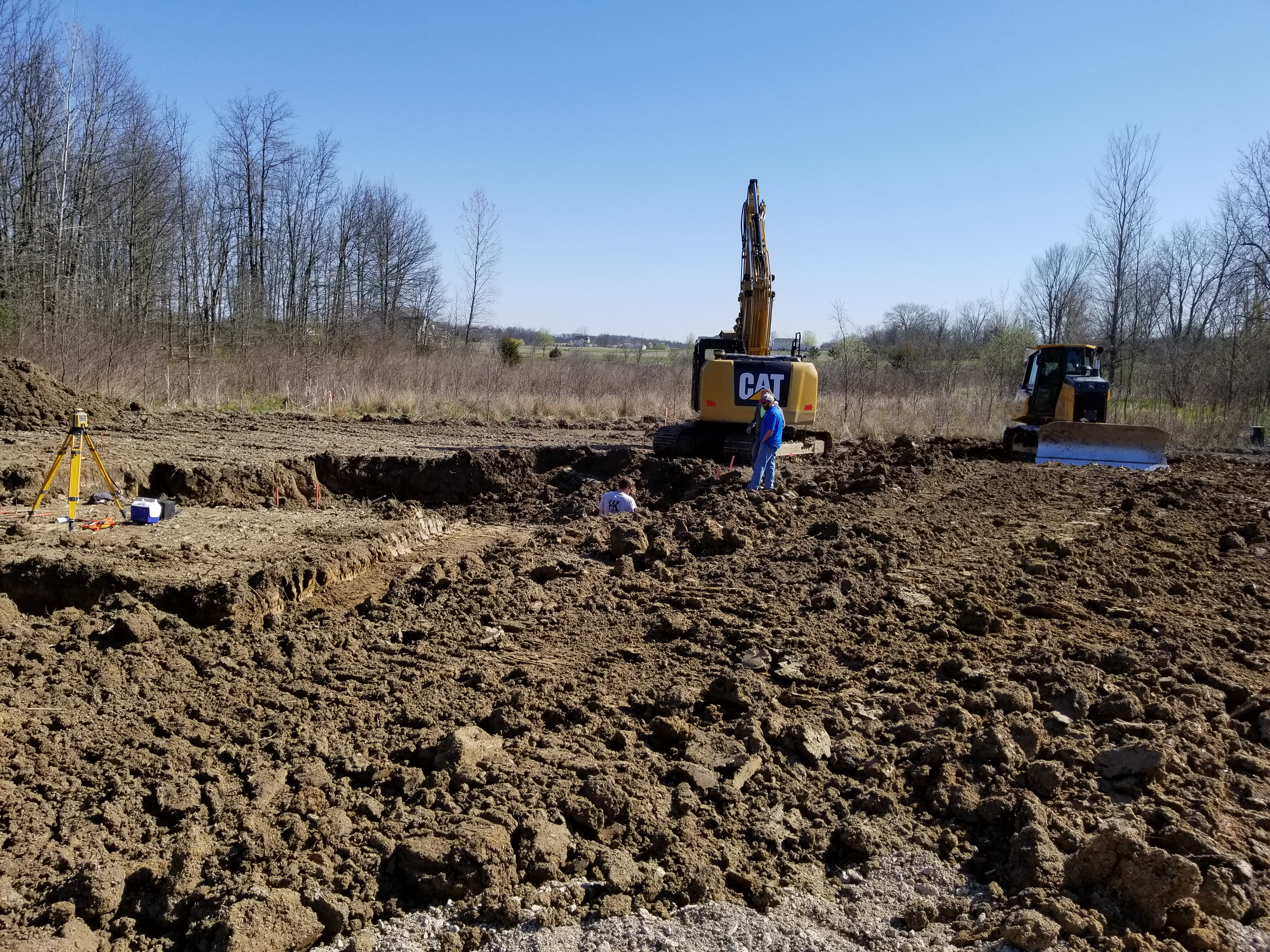 Field Manager touching base with the excavation contractor